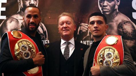 James DeGale, Frank Warren and Lee Selby
