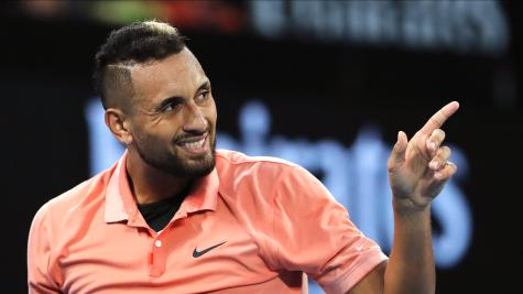 Australian Open day two: Dart flies British flag and Kyrgios marches on