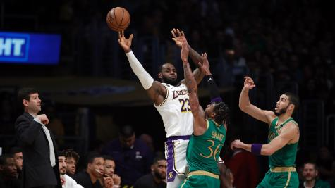 LeBron James leads Lakers over Celtics in thriller